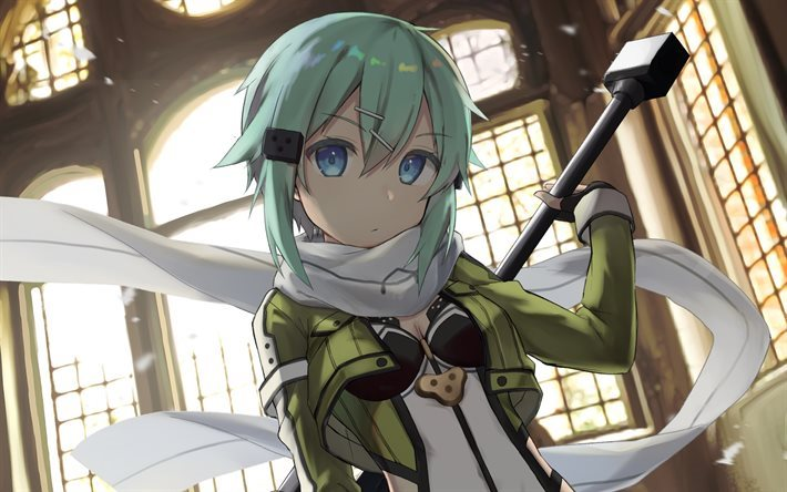 Sinon, Sword Art Online, Light novels, characters