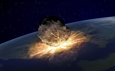 huge meteorite, apocalypse, end of the world concepts, explosion, destruction of the Earth