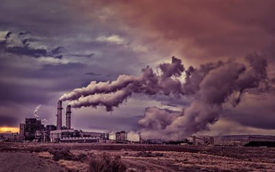 pollution of environment, ecology concepts, smoking chimneys, factories, environment, ecology