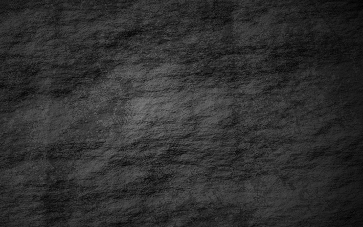 . Download wallpapers rough stone wall  black stone texture  stone