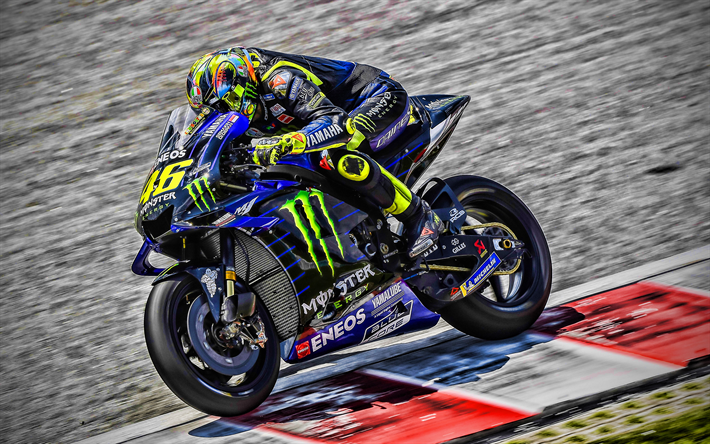 Download Wallpapers 4k Valentino Rossi Raceway Motogp 2019 Bikes Yamaha Yzr M1 Valentino Rossi On Track Racing Bikes Monster Energy Yamaha Motogp Motogp 2019 Yamaha Hdr For Desktop Free Pictures For Desktop Free