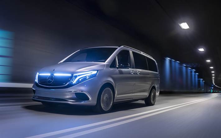 Download Wallpapers Mercedes-Benz EQV, 2019, Electric