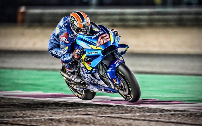 Download Wallpapers 4k Alex Rins Raceway Motogp 2019 Bikes Suzuki Gsx Rr Racing Bikes Alex Rins On Track Team Suzuki Ecstar Motogp 2019 Suzuki For Desktop Free Pictures For Desktop Free
