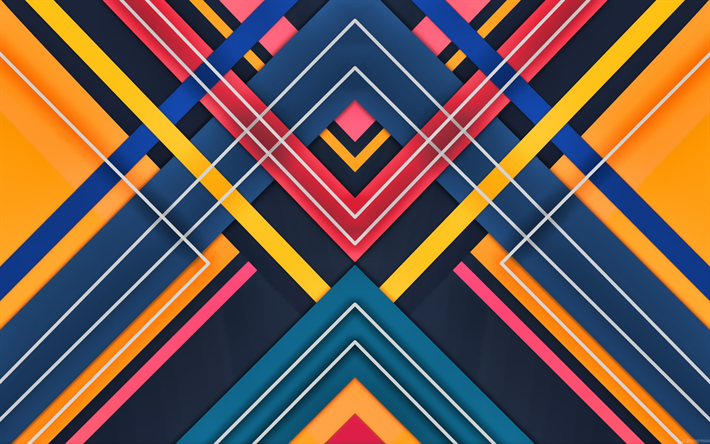 material design, colorful lines, android, lollipop, triangles, geometric shapes, creative, strips, geometry, colorful background