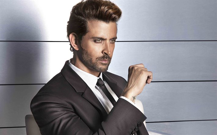 Hrithik Roshan, indian actor, portrait, photoshoot, indian stars, gray mens suit