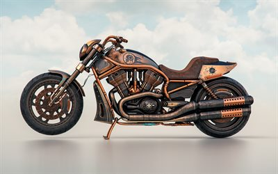 copper motorcycle, motorcycle tuning, Harley-Davidson, American motorcycles, custom motorcycles