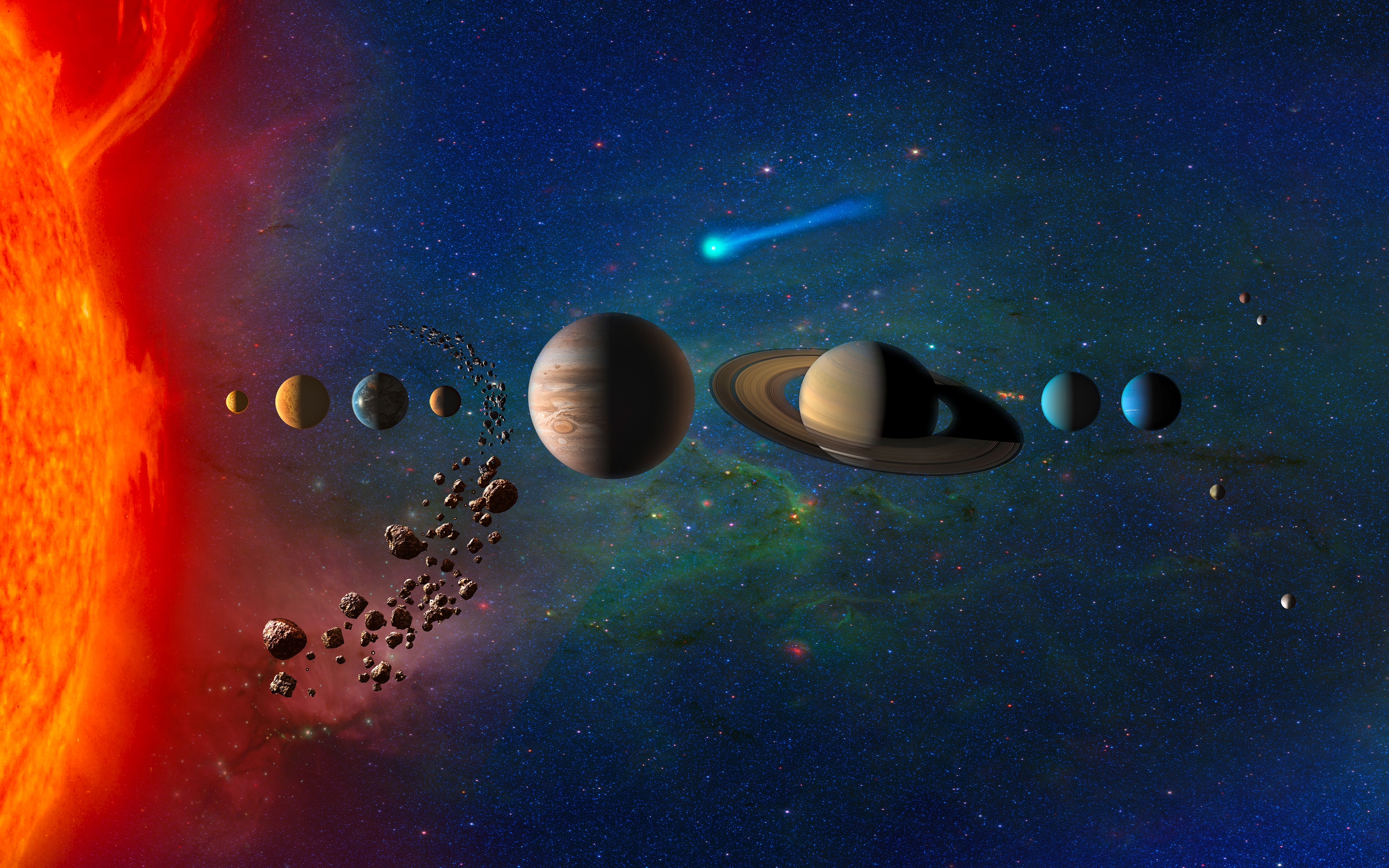 real pictures of the solar system - HD 3840×2400