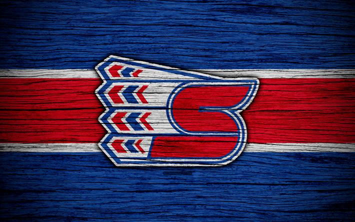 4k, Spokane Chiefs, logo, WHL, hockey, Canada, emblem, wooden