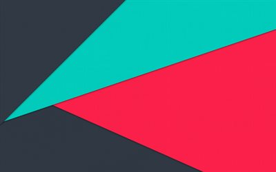 triangles, android, blue pink gray, lollipop, geometric shapes, material design, creative, geometry, colorful background