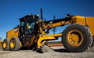 Caterpillar Grade 150, grader, 2021 graders, construction machinery, grader in career, special equipment, road scraper, construction equipment, CaT Grade 150, Caterpillar, CaT