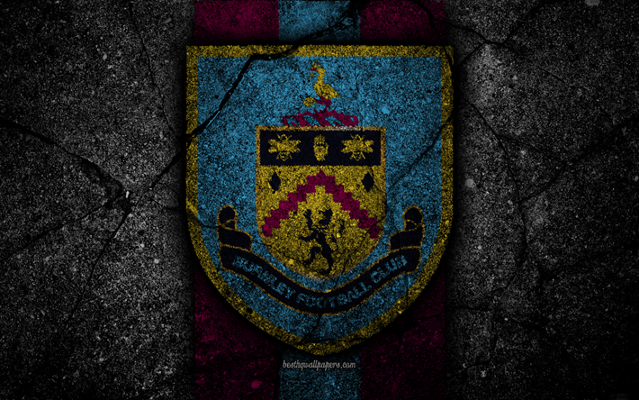 Download Wallpapers Burnley FC, 4k, Logo, Premier League