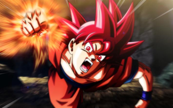 Goku Ssj Dios Para Fondo De Pantalla: Descargar Fondos De Pantalla 4k, El Super Saiyajin De La