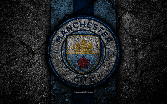 Manchester City Fc Wallpaper: Download Wallpapers Manchester City FC, 4k, Logo, Premier