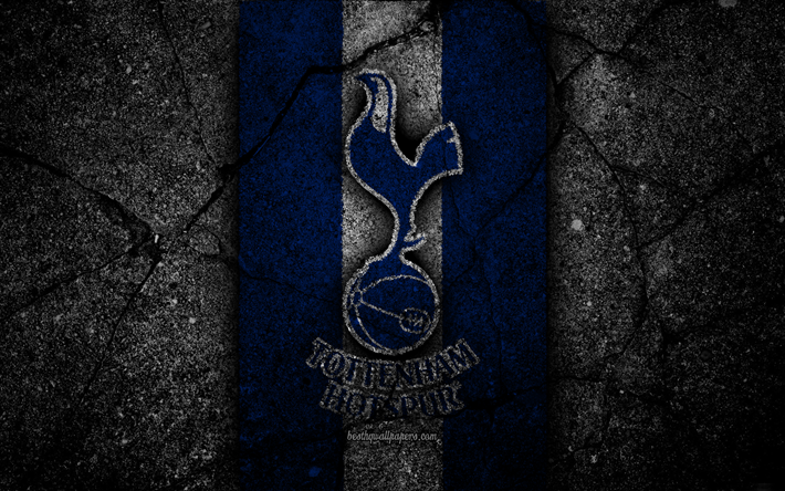 Download Wallpapers Tottenham Hotspur Fc 4k Logo Premier League Grunge England Asphalt Texture Tottenham Hotspur Black Stone Soccer Football Fc Tottenham Hotspur For Desktop Free Pictures For Desktop Free
