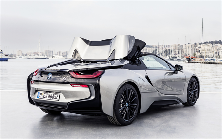 Download Wallpapers Bmw I8 Roadster 2018 Hybrid Exterior Rear