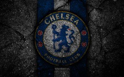 Download wallpapers Chelsea FC 4k logo Premier League