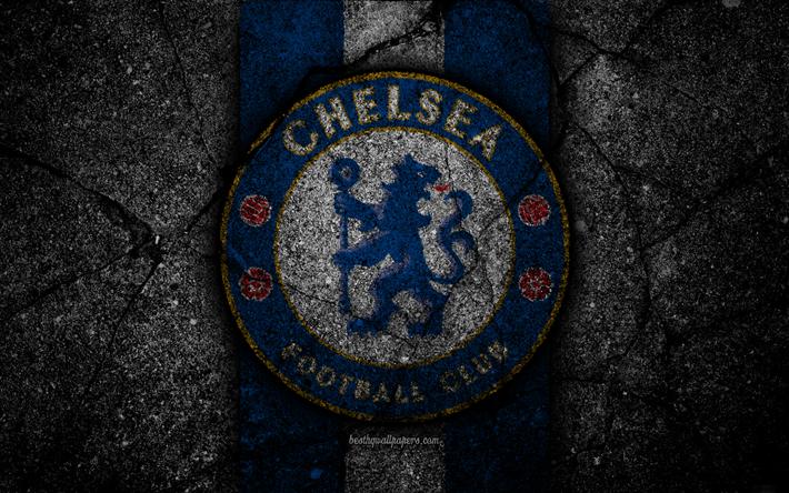 Download wallpapers chelsea fc 4k logo premier league - Chelsea wallpaper 4k ...