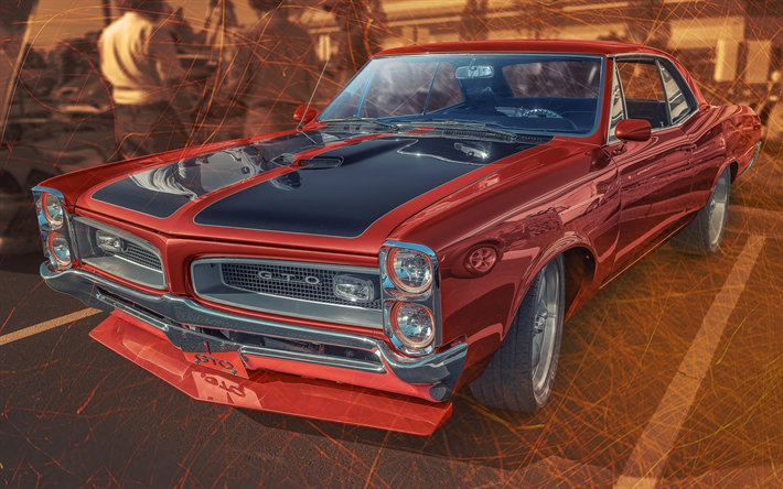 Download Wallpapers Pontiac Gto Artwork Muscle Cars Tuning