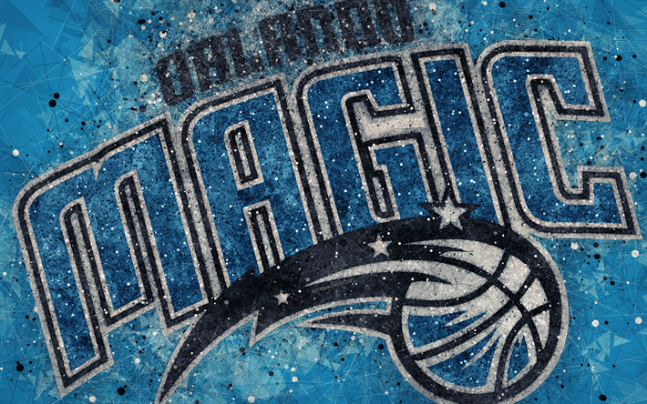 Download Wallpapers Orlando Magic 4k Creative Logo