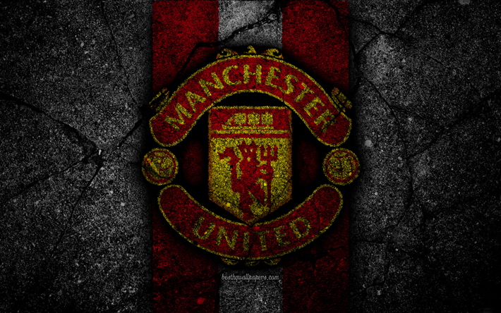 Download Wallpapers Manchester United Fc 4k Logo Premier