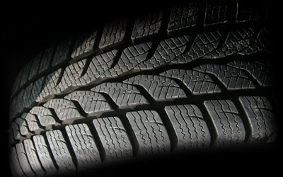 car tire, macro, car tires, wheel, black background, tire backgrounds