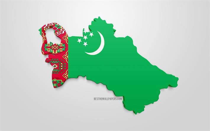 Lataa Kuva 3d Flag Of Austria Kartta Siluetti Turkmenistan 3d