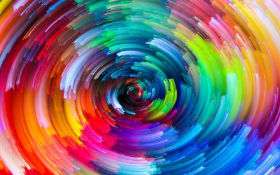 abstract vortex, 4k, creative, abstract spiral background, colorful circles, abstract background
