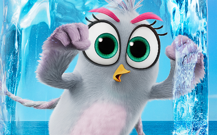 Silver, 4k, The Angry Birds Movie 2, 2019 movie, 3D-animation, Angry Birds 2