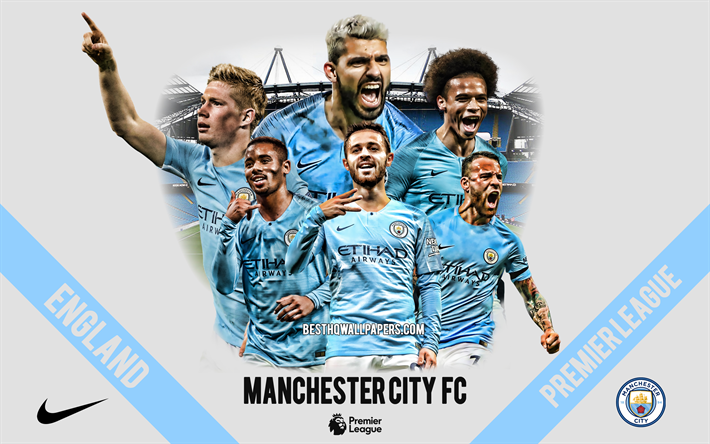 Download Wallpapers Manchester City FC, English Football