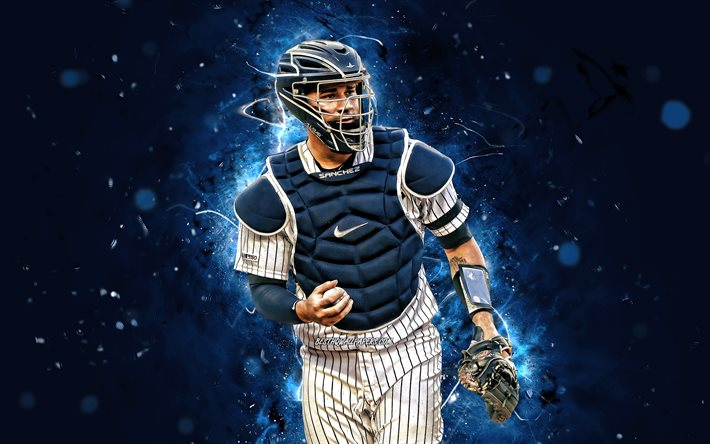Download Wallpapers 4k Gary Sanchez 2020 Mlb New York Yankees Baseball Major League Baseball Pitcher Neon Lights Gary Sanchez New York Yankees Gary Sanchez 4k Ny Yankees For Desktop Free Pictures For