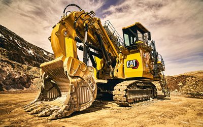 Caterpillar 6060, HDR, hydraulic mining shovel, construction vehicles, 2021 excavators, CaT, excavators, special equipment, CaT 6060, Caterpillar