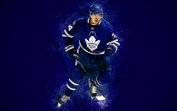 Auston Matthews 4k Art American Hockey Player Toronto Maple Leafs Paint