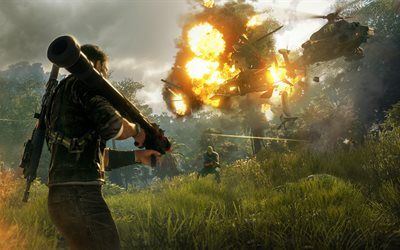 Just Cause 4, E3 2018, promo materials, 4k, new games, Microsoft