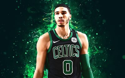 4k, Jayson Tatum, de l'art abstrait, stars du basket-ball, NBA, les Celtics de Boston, Tatum, basket-ball, créatif