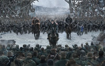 War for the Planet of the Apes, 2017, New movies, poster, promo