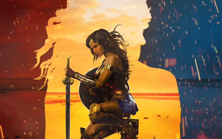 Download Wallpapers Wonder Woman 2017 Art Gal Gadot