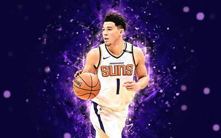 Download Wallpapers Devin Booker 4k Abstract Art Nba Basketball Stars Phoenix Suns Booker Neon Lights Basketball Creative For Desktop Free Pictures For Desktop Free
