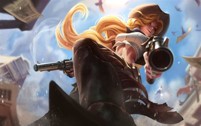 Miss Fortune, 4k, MOBA, guns, League of Legends