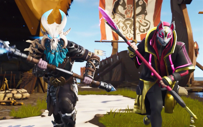 Download Wallpapers Drift Ragnarok 4k Fortnite Battle Royale