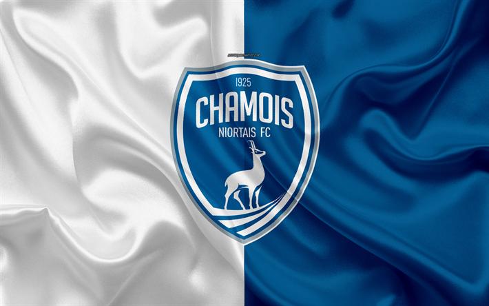 Télécharger fonds d'écran Chamois Niortais FC, 4k, soie, texture ...