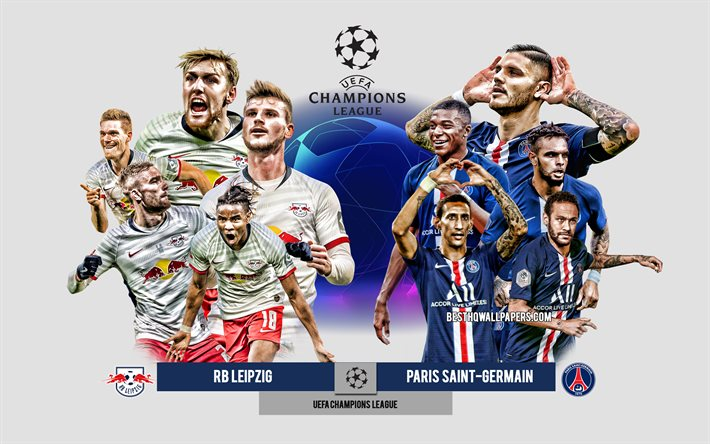 Download Wallpapers Rb Leipzig Vs Psg Uefa Champions League Preview Promotional Materials Football Players Champions League Football Match Rb Leipzig Vs Paris Saint Germain For Desktop Free Pictures For Desktop Free