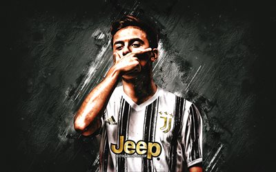 Paulo Dybala, Juventus FC, Argentine football player, portrait, 2021 Juventus uniform, football, Serie A