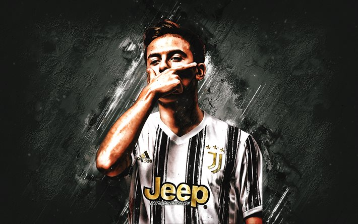 Download Wallpapers Paulo Dybala Juventus Fc Argentine Football Player Portrait 2021 Juventus Uniform Football Serie A For Desktop Free Pictures For Desktop Free