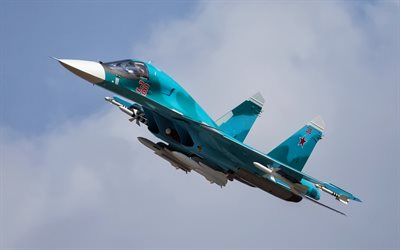 Su-34, Russian fighter-bomber, Russian Air Force, military aircraft