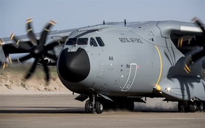 Military transport aircraft, Airbus A400M, cargo aircraft, Airbus Military
