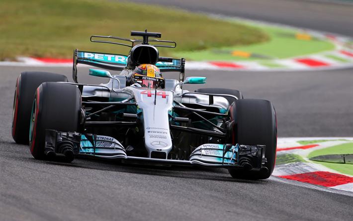 Lewis Hamilton Raceway F1 Mercedes AMG Team 4k Formula 1