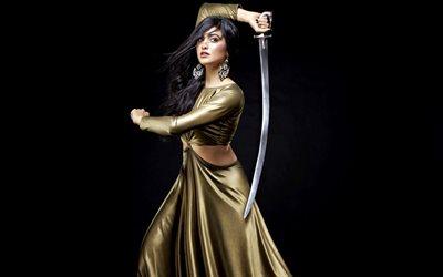 Download Wallpapers Adah Sharma Bollywood Beauty Sword