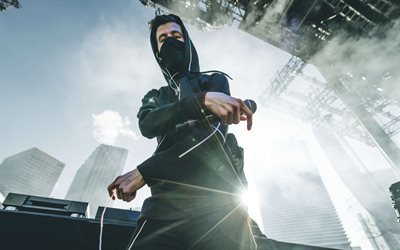 4k, Alan Walker, close-up, superstars, concert, stage, DJ Alan Walker, DJs
