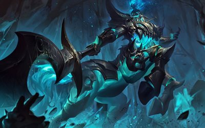 Hecarim, darkness, MOBA, warrior, League of Legends, artwork, Hecarim League of Legends