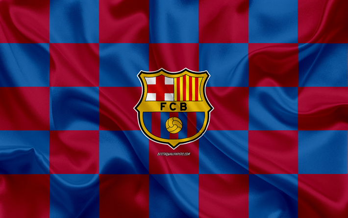 download wallpapers fc barcelona catalan football club logo emblem silk texture uniform 2020 catalonia barcelona logo spain la liga football silk flag for desktop free pictures for desktop free download wallpapers fc barcelona